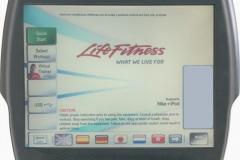 Life Fitness 95C szobabicikli TV