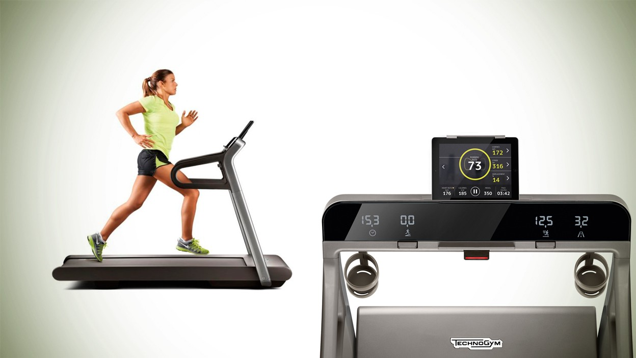 Technogym használt futópad applikációval