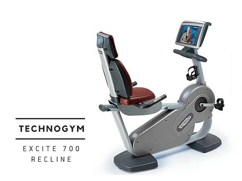 technogym excite 700 recline háttámlás használt szobabicikli