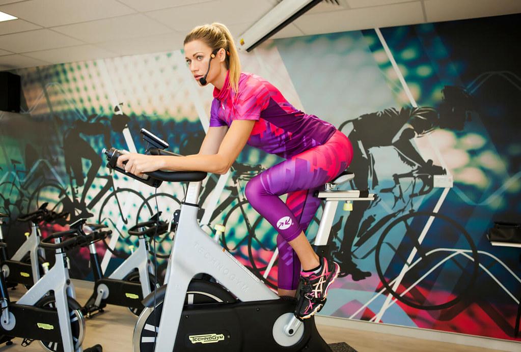 Edzés Technogym használt spinning kerékpár