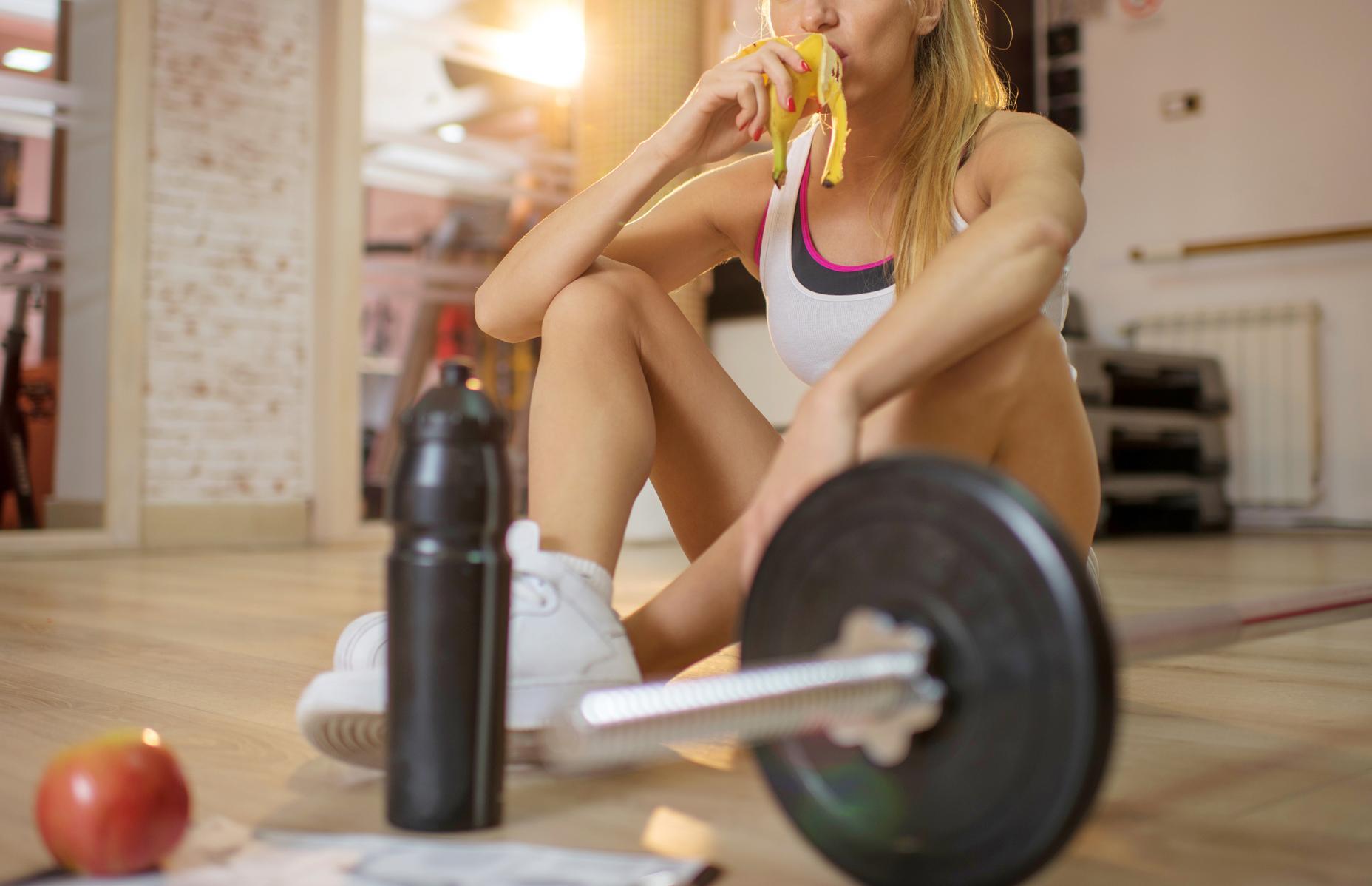 edzés után banán evés
