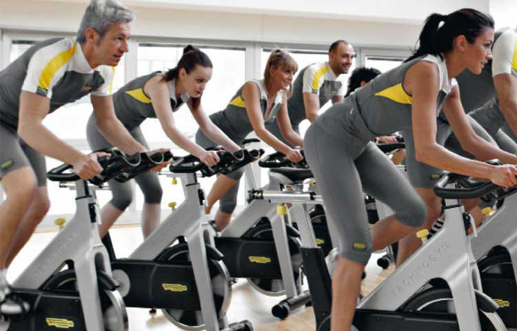 technogym spinning bike intervall edzéshez